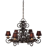 Metropolitan Castile 6 Light Chandelier in Black Forest N6311-BF