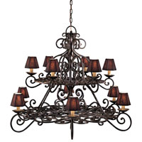 Metropolitan Signature 12 Light Chandelier in Black Forest (shade sold separately) N6312-BF