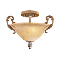 Metropolitan Navarra  2 Light Semi Flush in Tuscan Patina N6361-196