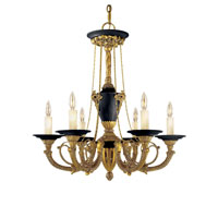Metropolitan Metropolitan Family 6 Light Chandelier in Dore Gold w/ Black Accents N6425-GD photo thumbnail
