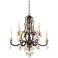Metropolitan Chateau Nobles 10 Light Chandelier in Raven Bronze W/Sunburst Gold N6459-652