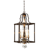 Chateau Nobles 4 Light 18 inch Raven Bronze/Sunburst Gold Pendant Ceiling Light