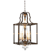 Chateau Nobles 6 Light 23 inch Raven Bronze/Sunburst Gold Pendant Ceiling Light