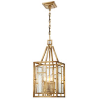 Edgemont Park 4 Light 10 inch Pandora Gold Leaf Mini Pendant Ceiling Light