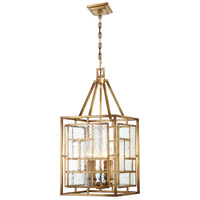 Edgemont Park 4 Light 14 inch Pandora Gold Leaf Pendant Ceiling Light