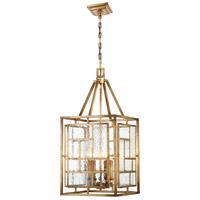 Metropolitan N6474-293 Edgemont Park 4 Light 14 inch Pandora Gold Leaf Pendant Ceiling Light