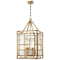 Metropolitan N6476-293 Edgemont Park 6 Light 18 inch Pandora Gold Leaf Pendant Ceiling Light