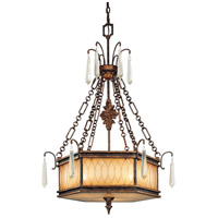 Terraza Villa 3 Light 28 inch Terraza Villa Aged Patina Pendant Ceiling Light