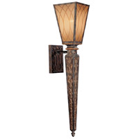 Metropolitan Terraza Villa 1 Light Sconce in Terraza Villa Aged Patina w/ Gold Leaf Accents N6490-270