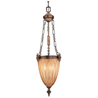 Terraza Villa 3 Light 13 inch Terraza Village Aged Patina/Gold Leaf Pendant Ceiling Light