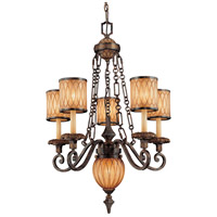Terraza Villa 6 Light 27 inch Terraza Village Aged Patina/Gold Leaf Chandelier Ceiling Light