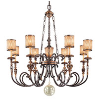 Metropolitan Terraza Villa 8 + 1 Light Chandelier in Terraza Villa Aged Patina w/Gold Leaf Accents N6498-270