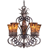 Metropolitan Salamanca 5 Light Chandelier in Cattera Bronze N6515-468