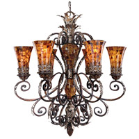 Metropolitan Salamanca 6 Light Chandelier in Cattera Bronze N6516-468