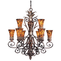 Metropolitan Salamanca 9 Light Chandelier in Cattera Bronze N6518-468