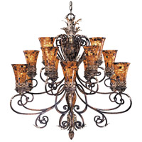 Metropolitan Salamanca 15 Light Chandelier in Cattera Bronze N6519-468 photo thumbnail