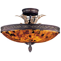 Salamanca 6 Light 24 inch Cattera Bronze Semi Flush Mount Ceiling Light