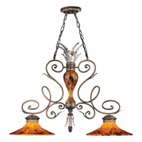 Metropolitan Salamanca 2 Light Island Light in Cattera Bronze N6524-468
