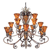 Metropolitan Salamanca 15 Light Chandelier in Cattera Bronze N6526-468 photo thumbnail