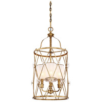 Metropolitan N6562-596 Victoria Park 3 Light 15 inch Elara Gold Pendant Ceiling Light