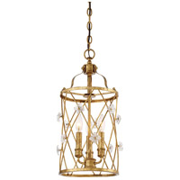 Victoria Park 3 Light 11 inch Elara Gold Pendant Ceiling Light