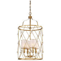 Victoria Park 4 Light 19 inch Elara Gold Pendant Ceiling Light