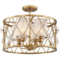 Metropolitan N6565-596 Victoria Park 4 Light 19 inch Elara Gold Semi-Flush Mount Ceiling Light
