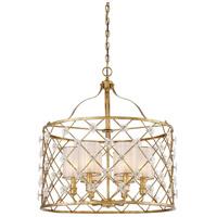 Metropolitan N6566-596 Victoria Park 6 Light 27 inch Elara Gold Pendant Ceiling Light
