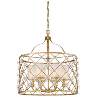 Metropolitan N6566-596 Victoria Park 6 Light 27 inch Elara Gold Pendant Ceiling Light
