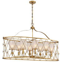 Metropolitan N6568-596 Victoria Park 8 Light 43 inch Elara Gold Island Light Ceiling Light