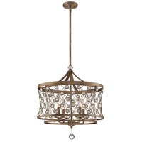 Vel Cantena 4 Light 22 inch Arcadian Gold Pendant Ceiling Light