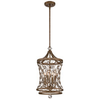 Vel Catena 4 Light 12 inch Arcadian Gold Pendant Ceiling Light