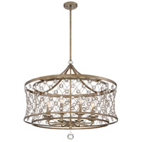 Vel Catena 8 Light 32 inch Arcadian Gold Pendant Ceiling Light