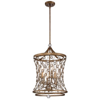 Vel Catena 6 Light 16 inch Arcadian Gold Pendant Ceiling Light
