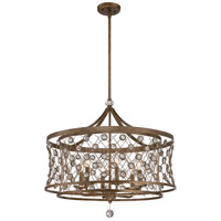 Vel Catena 6 Light 27 inch Arcadian Gold Pendant Ceiling Light
