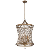 Vel Catena 8 Light 20 inch Arcadian Gold Pendant Ceiling Light
