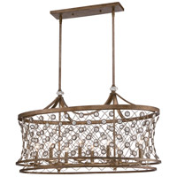 Vel Catena 8 Light 38 inch Arcadian Gold Island Light Ceiling Light