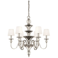 Metropolitan Aise  6 Light Chandelier in Polished Nickel N6610-613