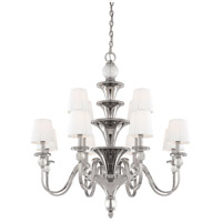 Metropolitan N6611-613 Aise 12 Light 39 inch Polished Nickel Chandelier Ceiling Light