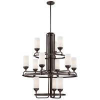 Industrial 12 Light 32 inch Industrial Bronze Chandelier Ceiling Light