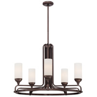 Industrial 5 Light 29 inch Industrial Bronze Chandelier Ceiling Light