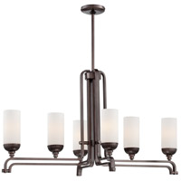 Industrial 6 Light 19 inch Industrial Bronze Island Light Ceiling Light