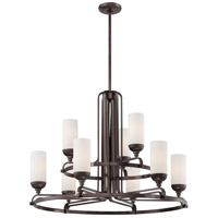 Industrial 9 Light 32 inch Industrial Bronze Chandelier Ceiling Light