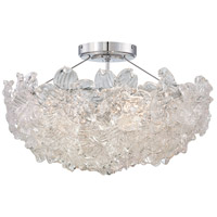 Bella Fiori 4 Light 22 inch Chrome Semi Flush Mount Ceiling Light