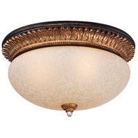 Metropolitan Bella Cristallo 3 Light Flushmount in French Bronze with Gold Leaf Highlights N6641-258B