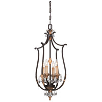 Metropolitan Bella Cristallo 4 Light Foyer Pendant in French Bronze with Gold Highlight N6644-258B
