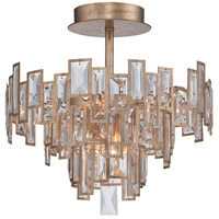 Bel Mondo 5 Light 19 inch Luxor Gold Semi Flush Mount Ceiling Light