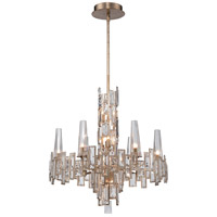 Bel Mondo 12 Light 25 inch Luxor Gold Chandelier Ceiling Light