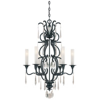 Metropolitan Castellina  6 Light Chandelier in Steel N6700-254