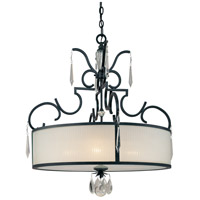 Metropolitan Castellina  4 Light Pendant in Steel N6702-254